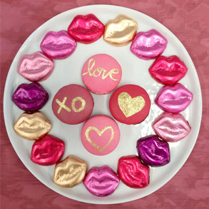 Show Your Love with Gilded Macarons